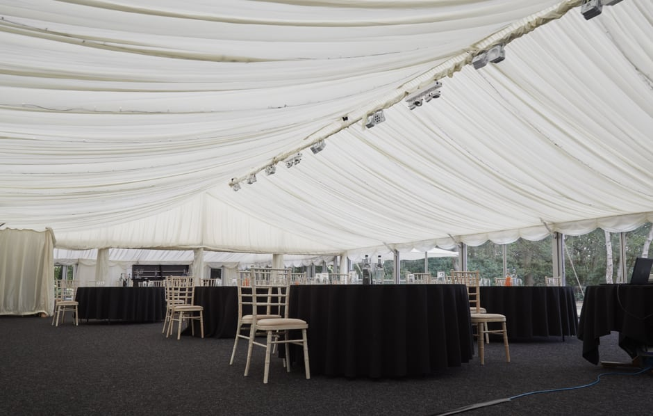 Large marquee to hold up to 600 guests - Nunsmere