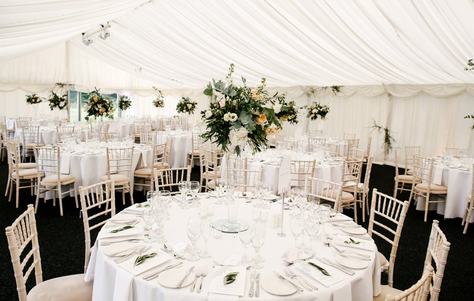 Table layout inside the marquee - Nunsmere
